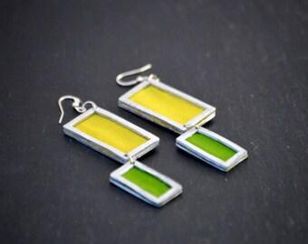 Recycled silk earrings