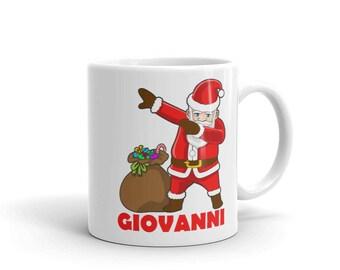 Dabbing Santa Claus Mug for Giovanni - Hip Hop Christmas Dance Mug