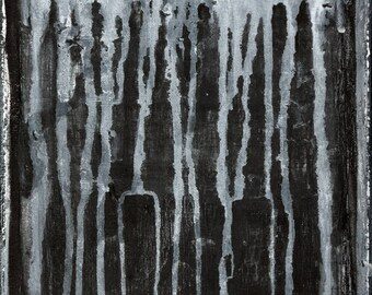 TRENCHES- Minimal Abstract Black and White Painting