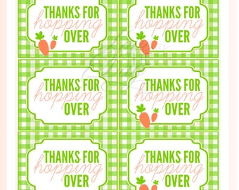 Hoppy Easter Party PRINTABLE Favor Tags (INSTANT DOWNLOAD) from Love The Day