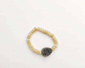 Druzy Bracelet, two colors available