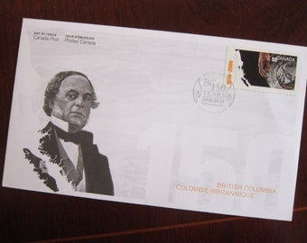 First Day Cover or Day of Issue Canadian Stamps, Sir James Douglas - For Collage & other Multi-Media Projects