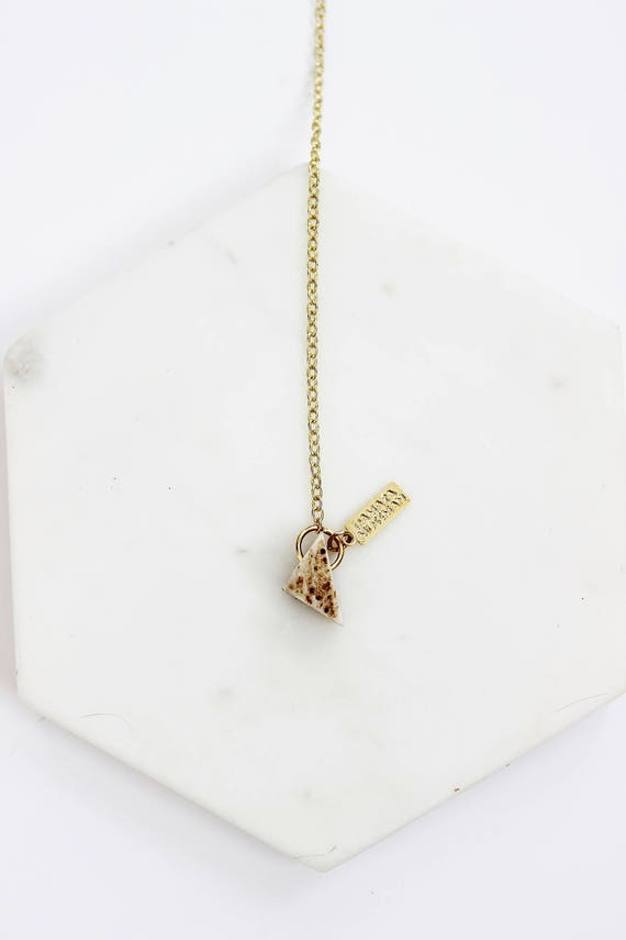 Delicate Antler Lariat Necklace