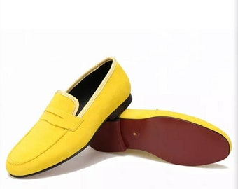 Yellow Men Loafers