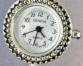 Crystal and Blue Bead Handmade Watch