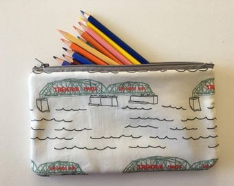 Trenton Makes The World Takes Pencil and Accessories Zipper Pouch