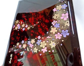 VJ842 : Address book,Japanese vintage Lacquer Address book,boxed,made in Japan