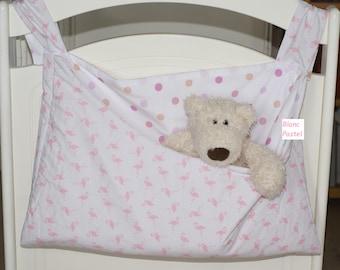 "empty pockets baby cot, pajamas, reversible blanket and moletonne ""Flamingo"" range"
