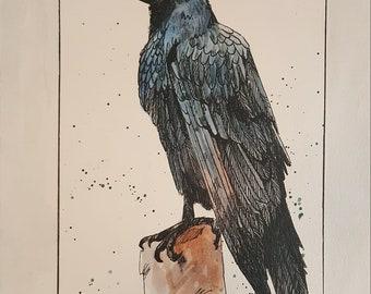 Raven Painting Original Art