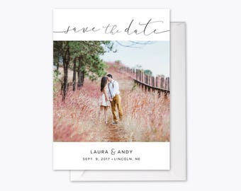 Perfect Love Photo Save the Date printable