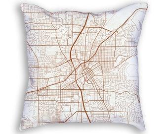 Huntsville Alabama City Street Map Throw Pillow