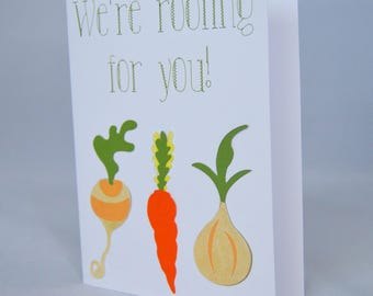 Root Vegetable Encouragement Card