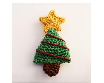 Crochet Christmas Tree pattern,Crochet brooch pattern,Crochet Christmas pattern,Christmas brooch,Christmas decorations,Amigurumi brooch