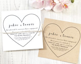 Personalised Heart Engagement Invitations