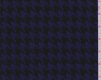 Purple Houndstooth Jacketing, Fabric By The Yard