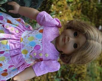 Vintage 1940s Birthday Party dress - fit 18 inch dolls like the American Girl Doll