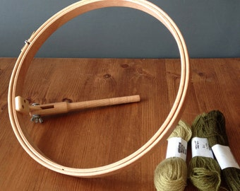 Embroidery 10inch, 25cm, hoops with stalk to work with seat frame by elbesee
