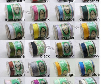 OPTIONAL MULTI COLOR 0.8mm Chinese Knotting Cord / Braided Nylon Bead Cord (136 yd roll)