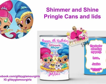 Shimmer and Shine Mini Pringle Can Wrappers----YOU PRINT
