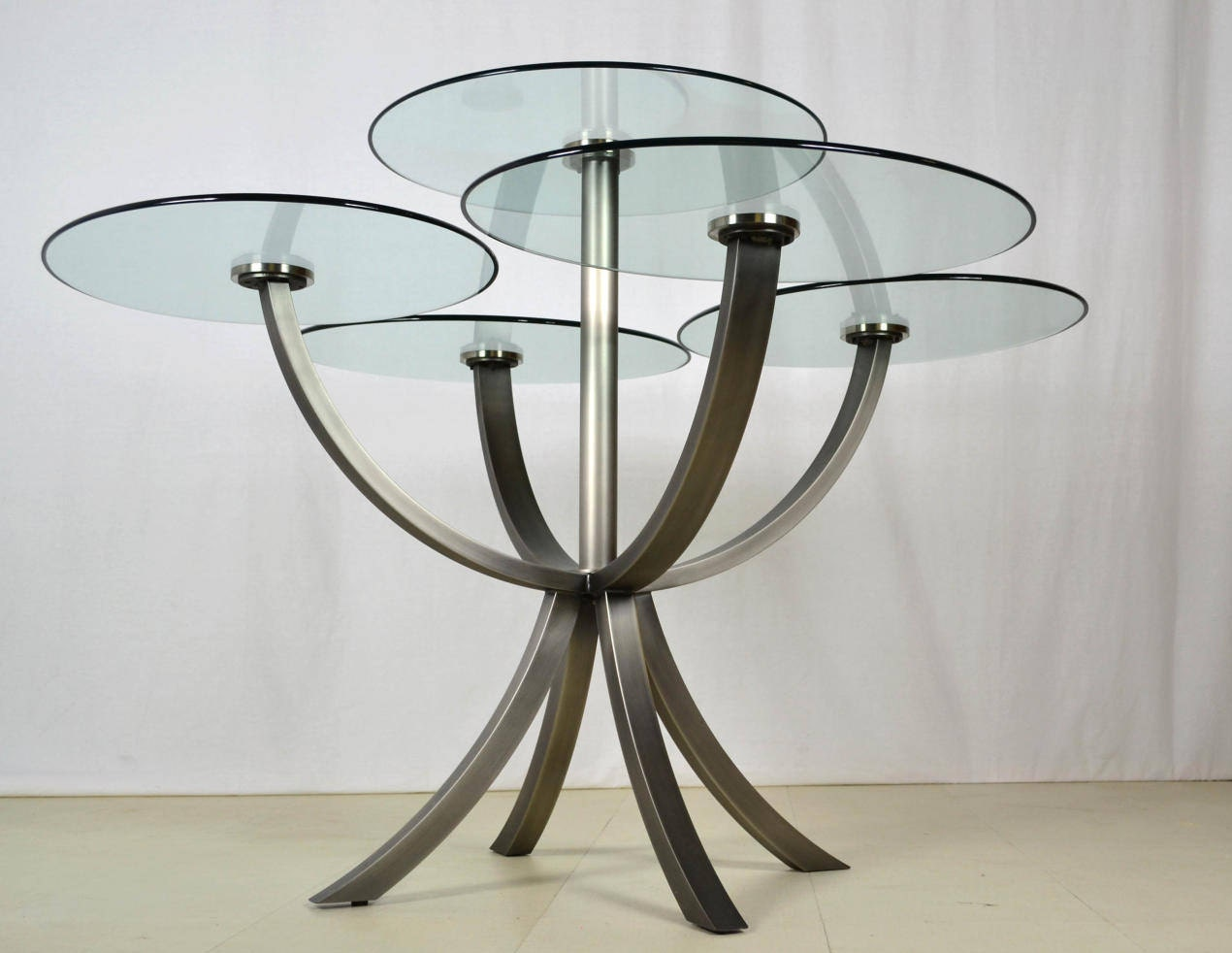 Post-Modern Glass Dining Table by DIA Circle of Life 1980