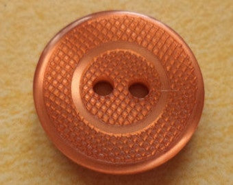 12 orange BUTTONS 15mm (5474) button
