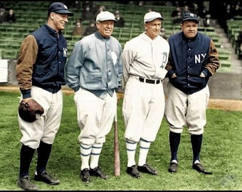 Lou Gehrig, Tris Speaker, Ty Cobb and Babe Ruth circa 1928.