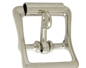 """All Purpose Roller Buckle w/Lock Nickel Plated 1"""" 1540-10 by Tandy Leather"""