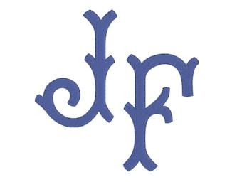 Paige Monogram Font, 6 inch