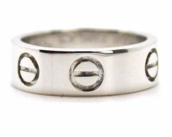 Unisex Cartier love ring / screw ring