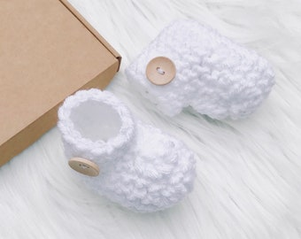 Baby boots, baby boy gift, baby girl gift, baby booties, pregnancy reveal, baby shoes, white shoes, new baby gift, new mom, baby slippers