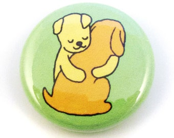 Doggie Hugs Button