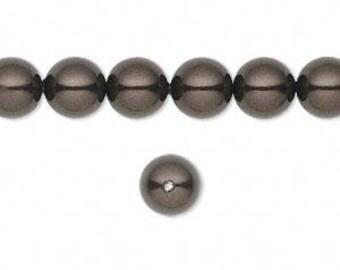 Swarovski pearl, Deep Brown, 8mm #2528