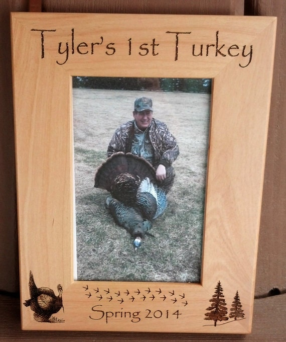 Turkey Hunting First Turkey Frame 1st Turkey Gift For