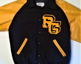 Vintage Varsity Letterman Jacket - Size M