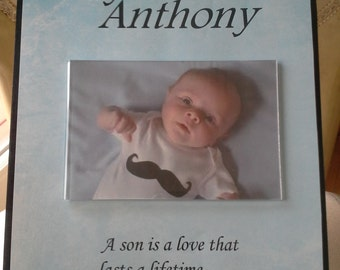 "Benutzerdefinierte ""Baby Boy"" Holzrahmen"
