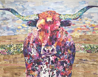 Longhorn No. 2 - Giclee Paper or Canvas Print