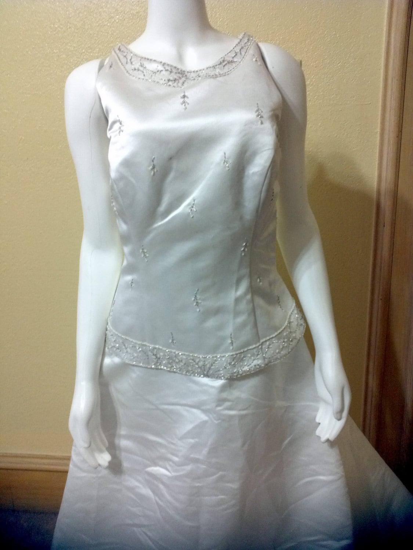 White Satin Silk Wedding Dress Collection by Pronovias Costura