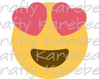 Love Emoji SVG and DXF Digital File Download