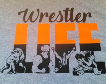 Wrestler Life T-shirt-Wrestler T-shirt-Wrestling T-shirt