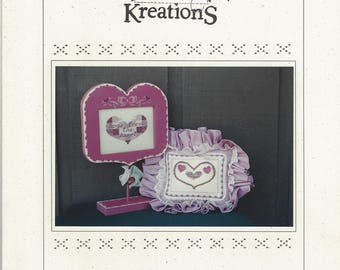 """Clearance - """"From the Heart"""" Counted Cross Stitch Chart by Poppy Kreations"""