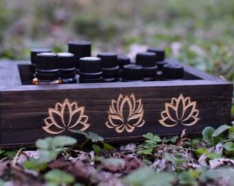 Lotus Essential Oil Box - Old Growth Georgia Pine