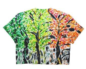 Seasons Trees Ladies Crop Top