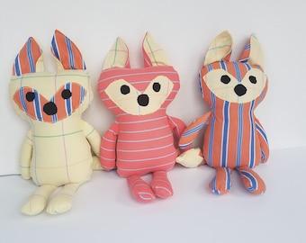 Stuffed Animal Fox - Baby Blanket Fox - Memorial Fox Gift - Custom Fox - Handmade Fox Personalized - Stuffed Fox - Cuddles and Keepsakes