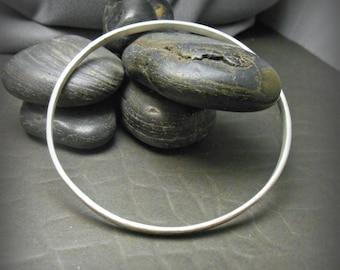 Hammered Sterling Silver Bangle Bracelet H