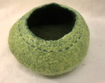 Green Felted Vessel
