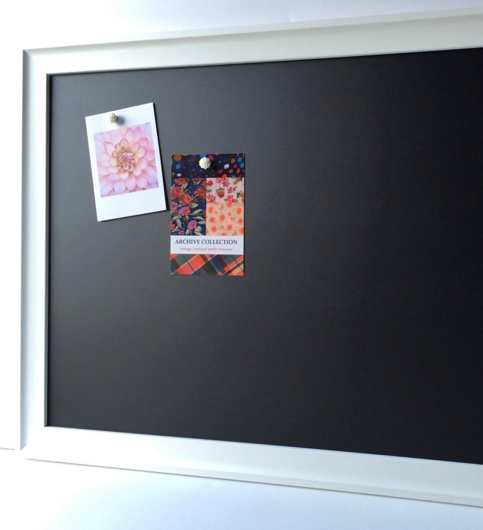 LARGE framed magnetic chalkboard magnet board playroom
