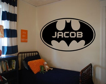 Superior Vinyl Batman Wall Decal, Personalized Boys Room Decal, Vinyl Batman, Vinyl  Superhero Decal