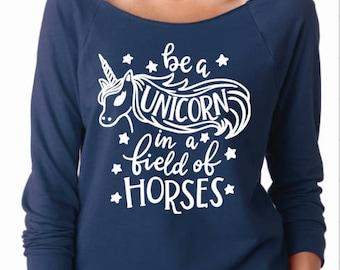 Unicorn shirt, unicorn sweatshirt, womens unicorn shirt, ladies unicorn shirt, unicorn clothing, horse shirt, women horse shirt, horse