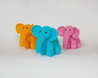 Amigurumi crochet pattern elephant / crocheted elephant / amigurumi animals / elephant / crochet pattern animals / easy crochet pattern /