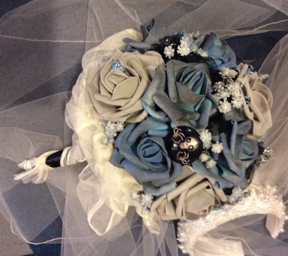 CORPSE BRIDE Wedding Flower Bouquet-Bridal Flower-Brides